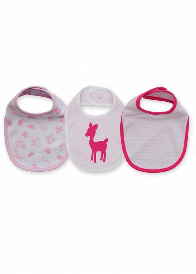 - Kız Bebekleri İçin 3'lü Ceylan Mama Önlüğü Seti (0-3 Ay)