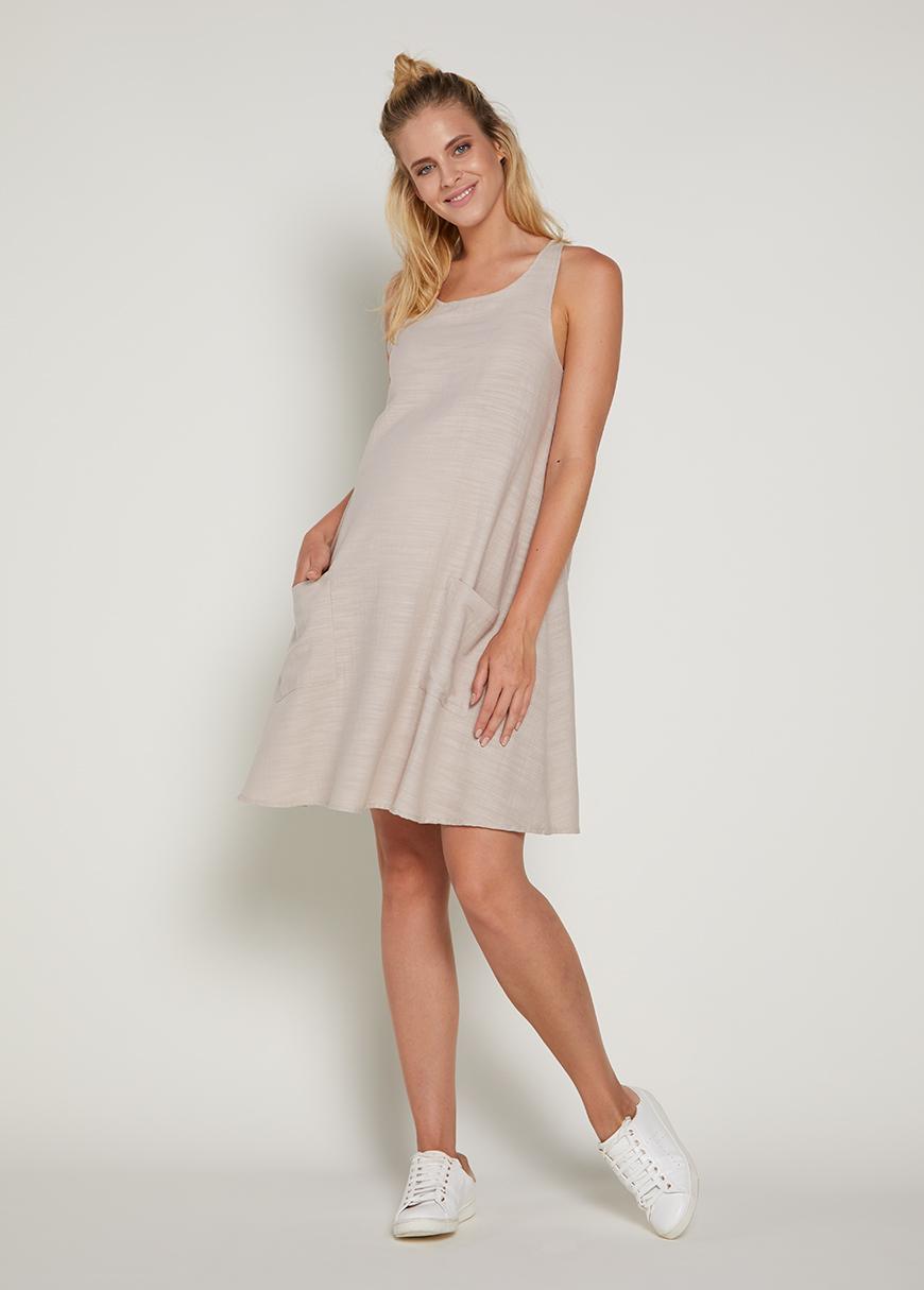 - Askılı Mini Hamile Elbisesi Zena