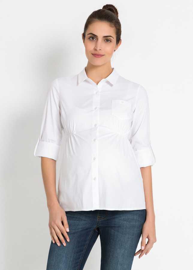 - Beyaz Hamile Gömleği Dennis