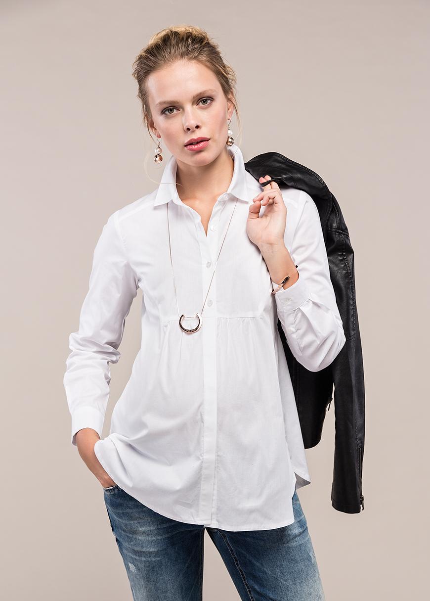 - Beyaz Hamile Gömleği Jenn