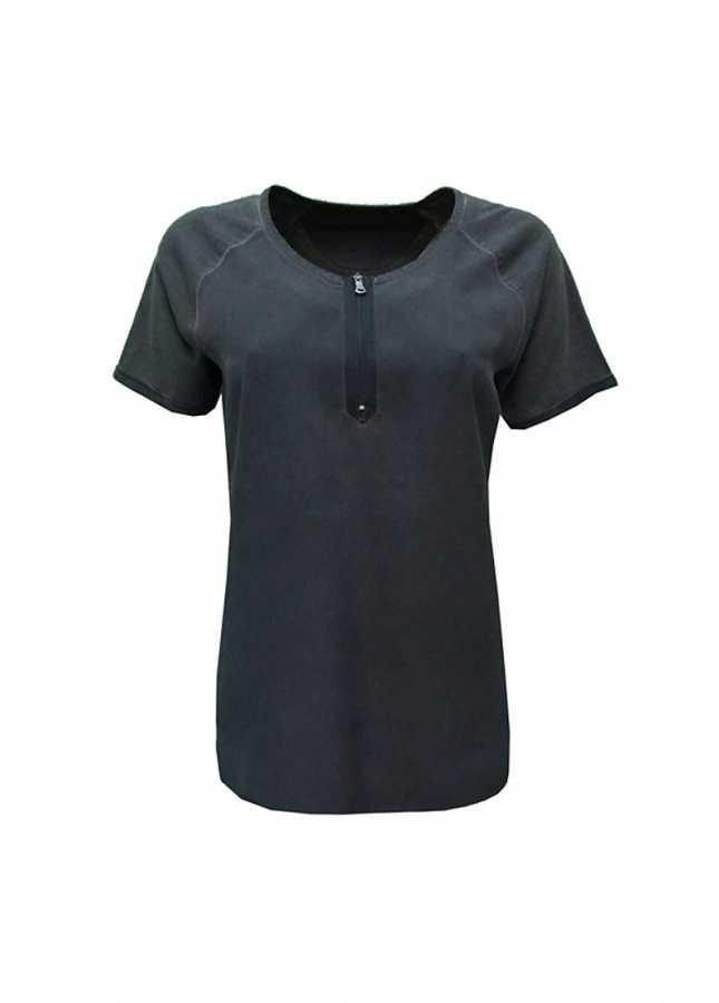 - Göğüs Üstü Fermuar Detaylı Bluz