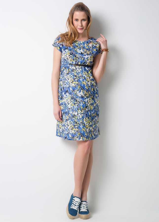 - Çiçek Desenli Hamile Elbisesi Spot
