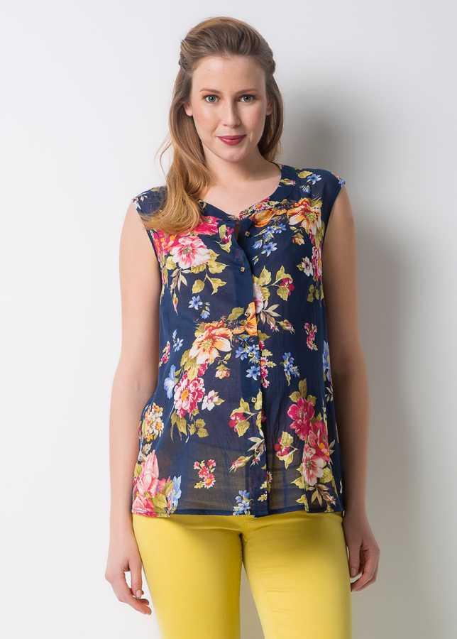 - Çiçek Desenli Hamile Bluzu Bloom