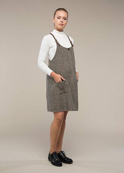 Deri Askılı Hamile Elbisesi Dion - Thumbnail