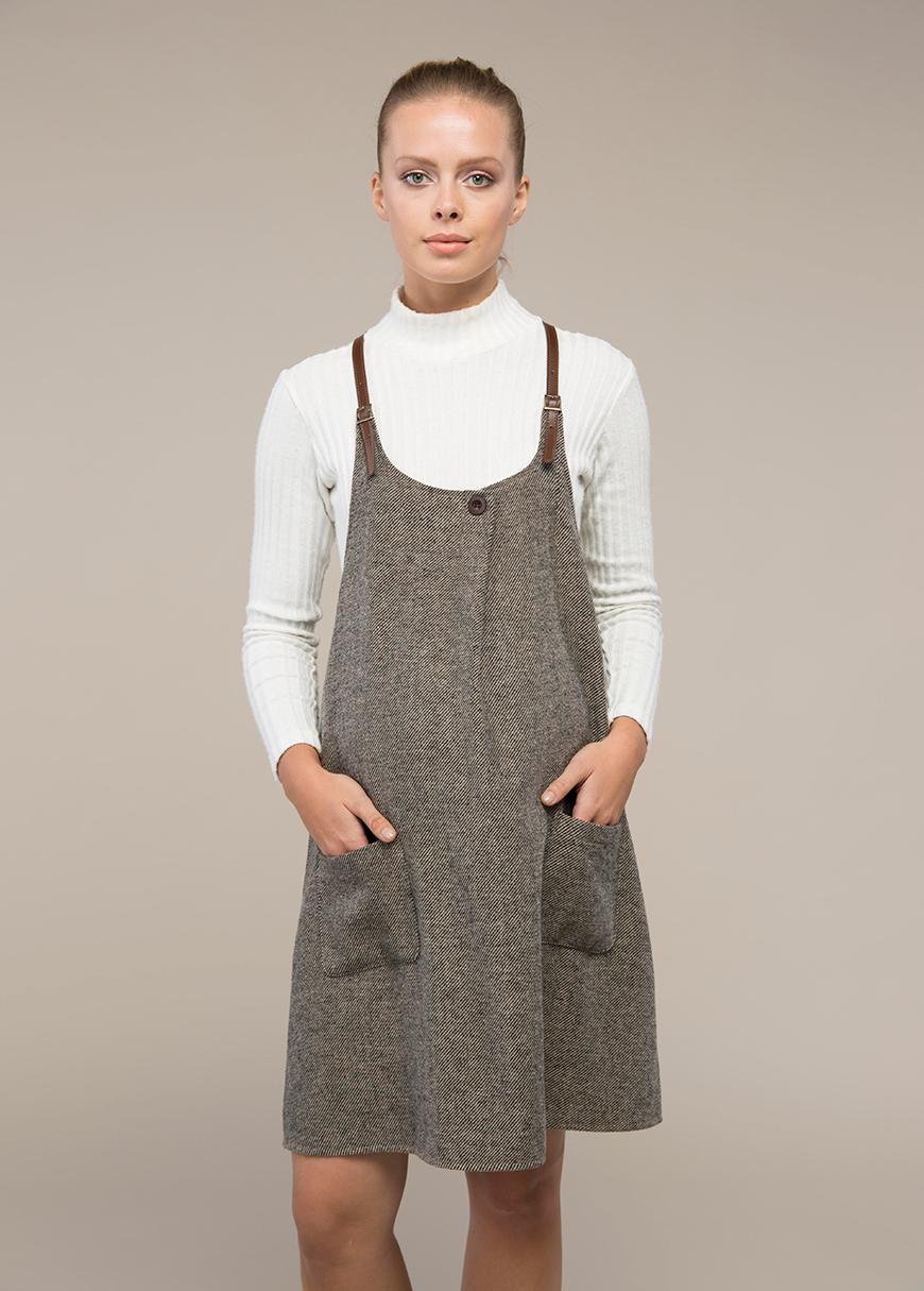 Deri Askılı Hamile Elbisesi Dion