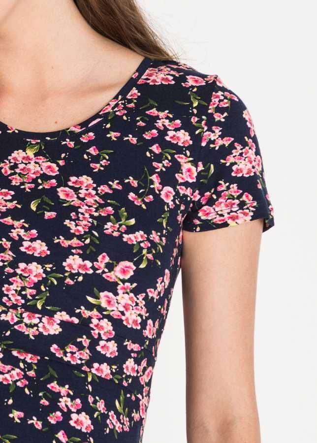 Emzirme Özellikli Çiçek Baskılı Hamile Bluzu Cell