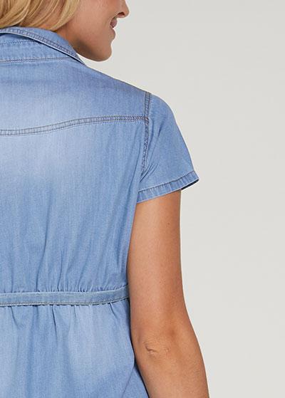 Gömlek Yaka Jean Hamile Elbisesi Rocco - Thumbnail