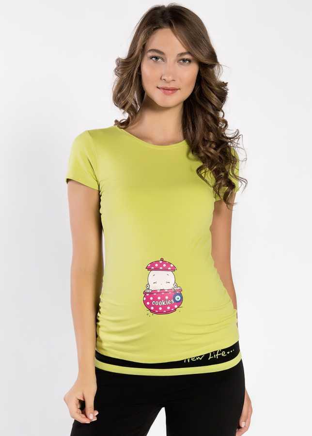 - Esprili Hamile Tişörtü Cookie