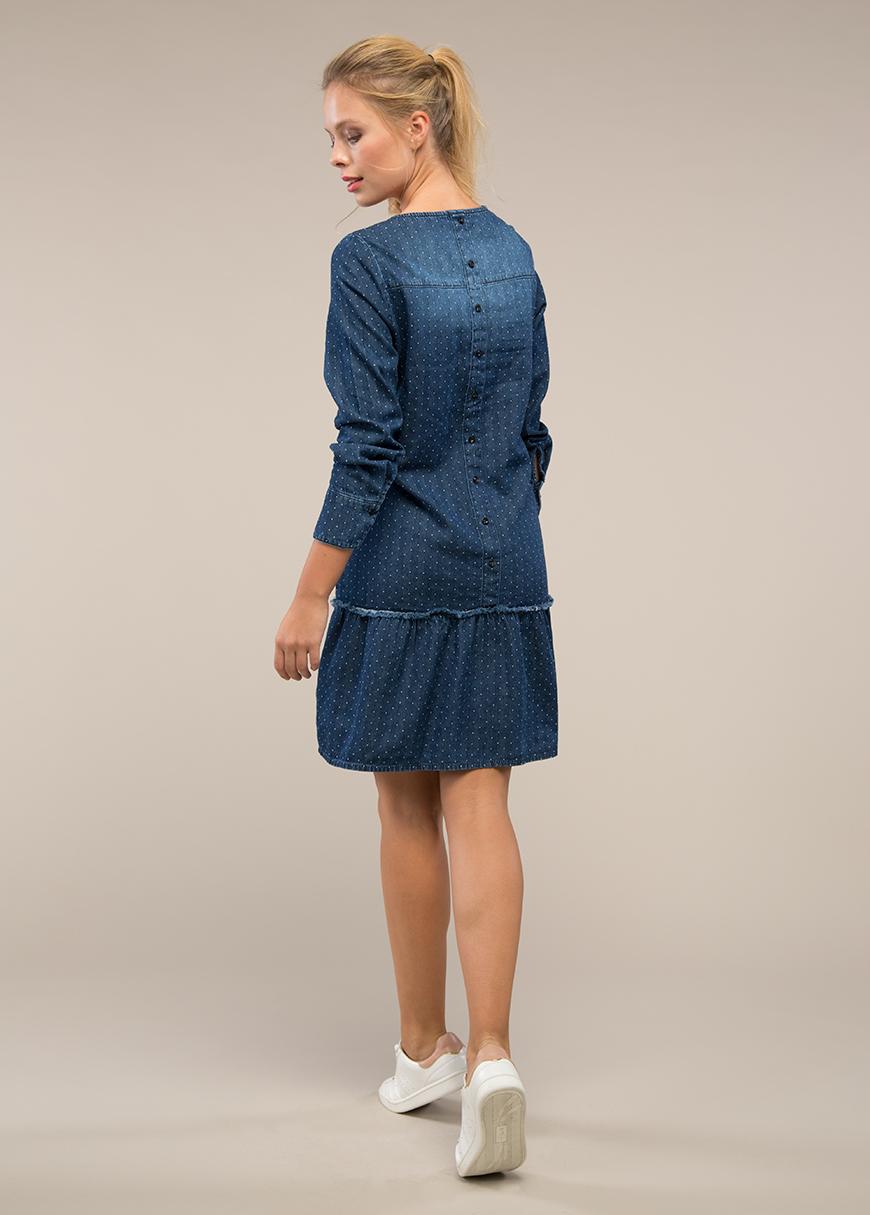Puantiyeli Jean Hamile Elbisesi Jelly