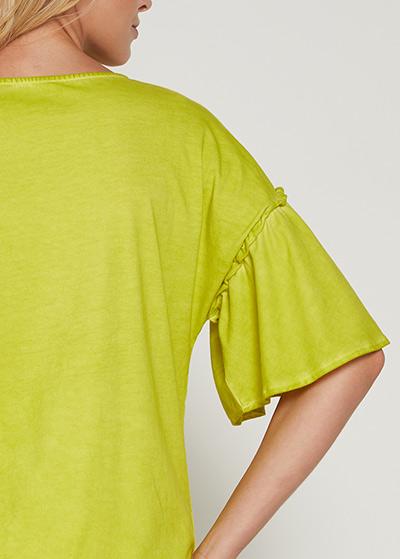 Kolları Volanlı Hamile Bluzu Nelson - Thumbnail