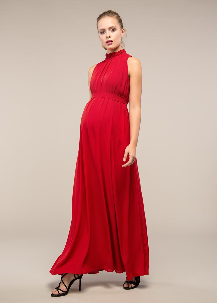 - Uzun Kolsuz Hamile Abiye Elbisesi Amelie