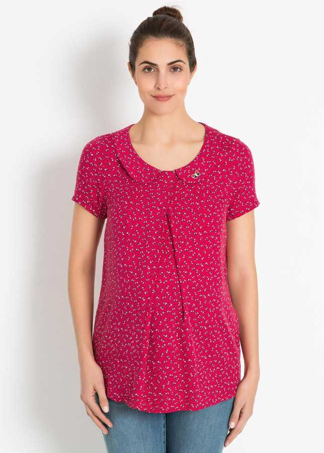 - Mini Çiçek Baskılı Hamile Bluzu Lalin