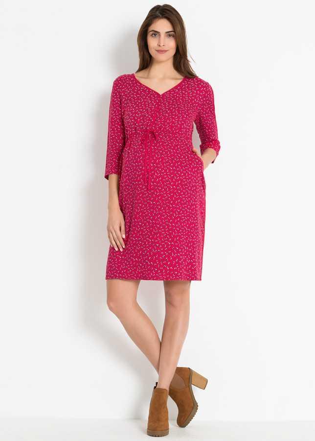- Mini Çiçek Baskılı Hamile Elbisesi Castel