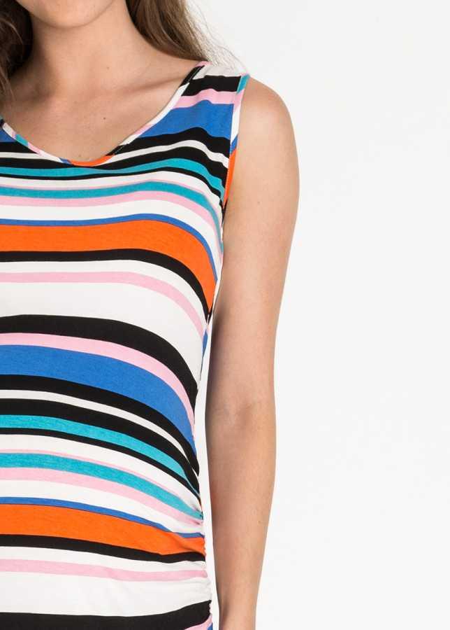 Renkli Uzun Hamile Elbisesi Piena