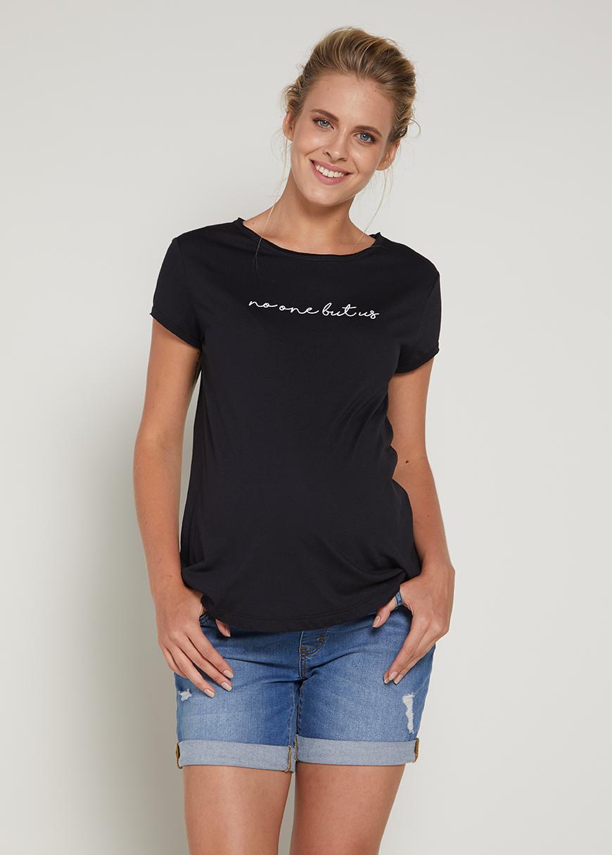 - Sloganlı Hamile Tişörtü Anita