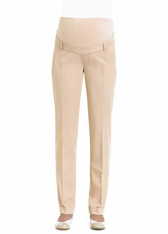 - Ütü İzli Klasik Hamile Pantolonu Kos