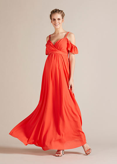 Uzun Hamile Abiye Elbisesi Blossom - Thumbnail