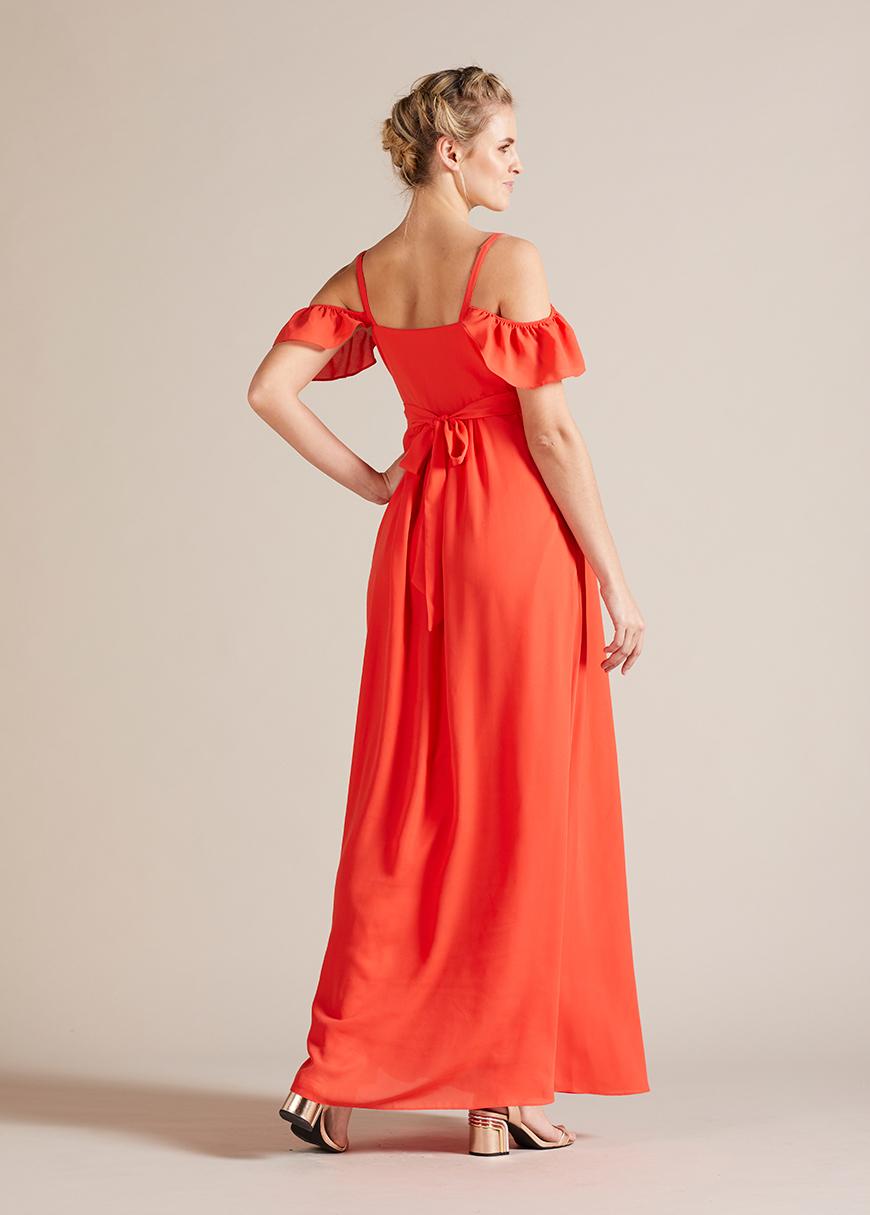 Uzun Hamile Abiye Elbisesi Blossom