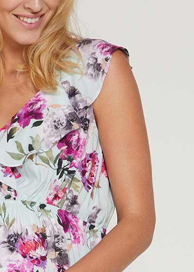 Volanlı Hamile Elbisesi Flora - Thumbnail