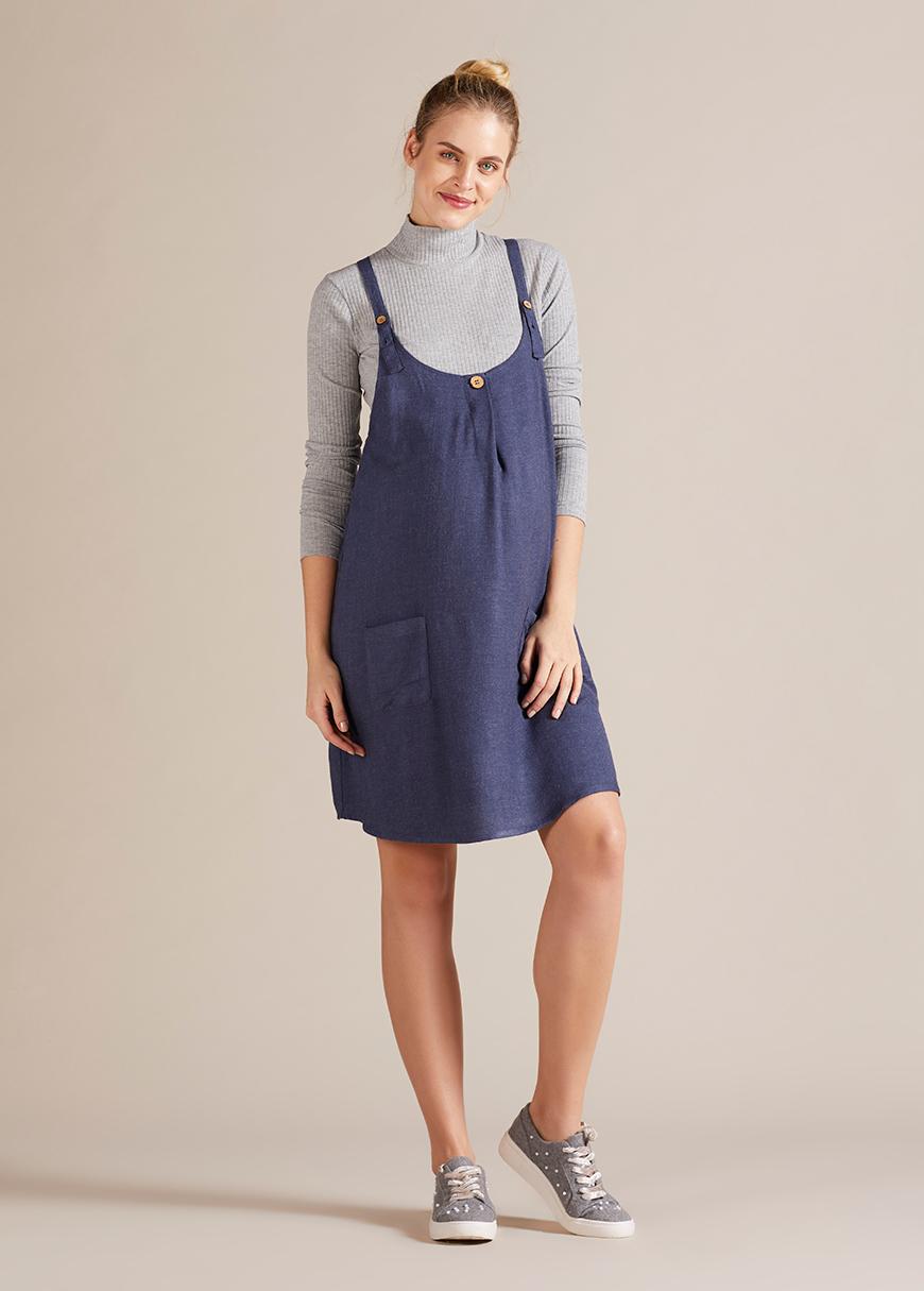 - Askılı Hamile Elbisesi Salodress Colett