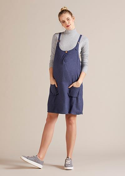 Askılı Hamile Elbisesi Salodress Colett - Thumbnail