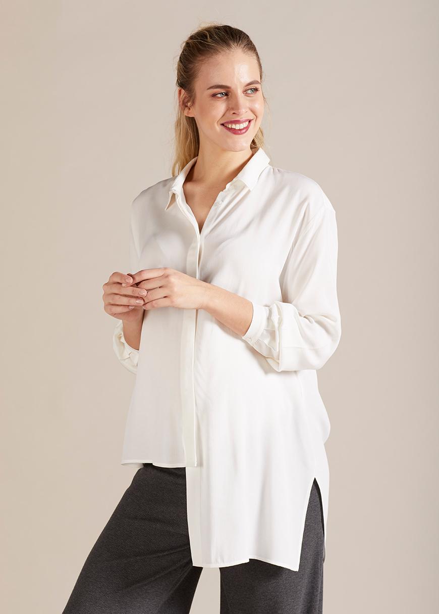 - Asmiterik Kesim Hamile Gömleği Megan