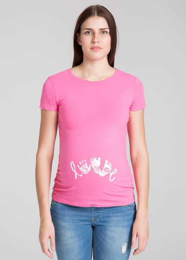 Ayak & El İzli Esprili Tişört Loves