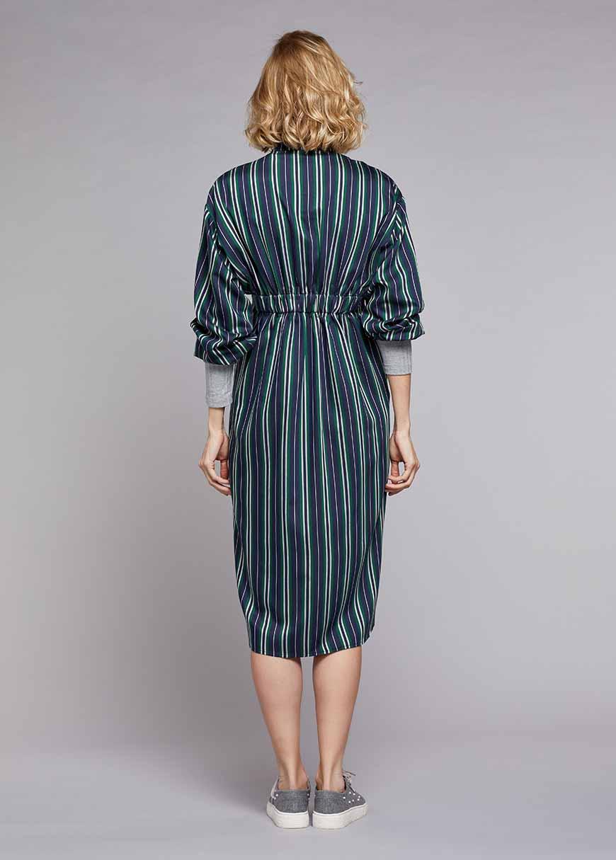 Belden Lastikli Gömlek Elbise Milena