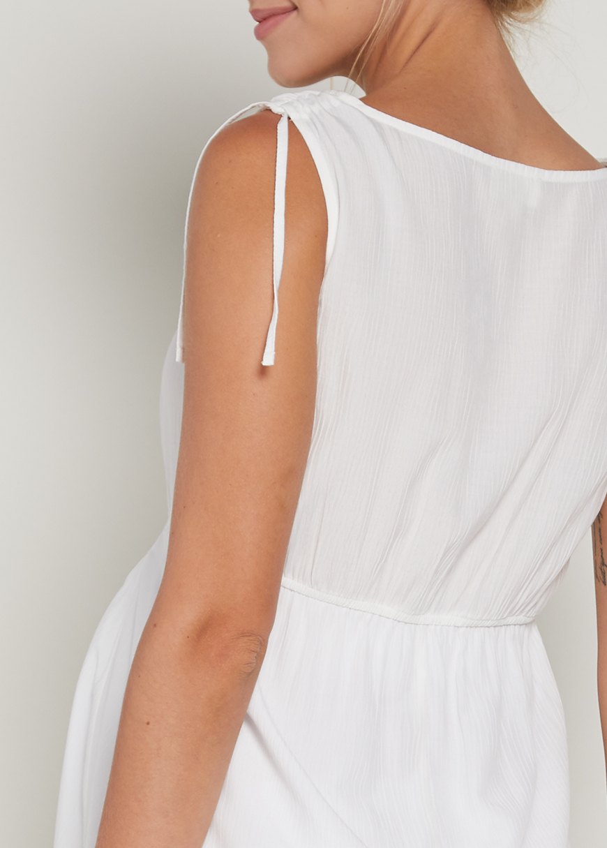 Beyaz Hamile Elbisesi Away