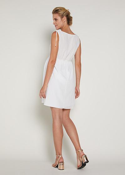 Beyaz Hamile Elbisesi Away - Thumbnail