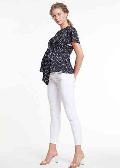 Beyaz Skinny Hamile Pantolonu, Tr Norway - Thumbnail