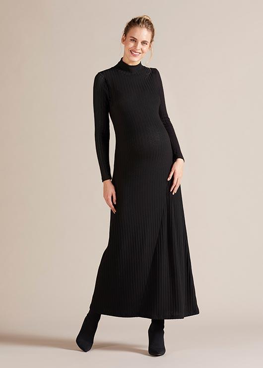 - Boğazlı Uzun Hamile Elbisesi Savannah