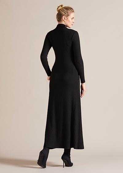 Boğazlı Uzun Hamile Elbisesi Savannah - Thumbnail