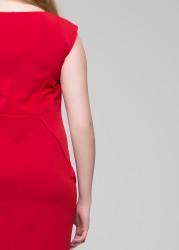 Büyük Beden Elbise Cherry - Thumbnail