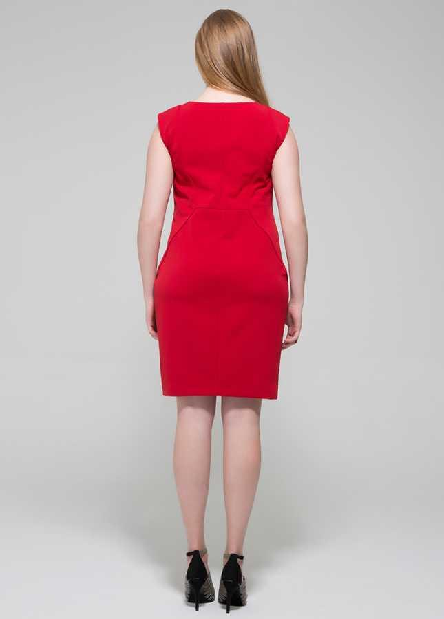 Büyük Beden Elbise Cherry