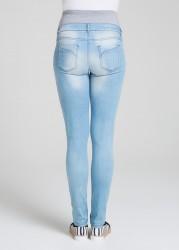 Buz Mavisi Hamile Kot Pantolonu Sky - Thumbnail