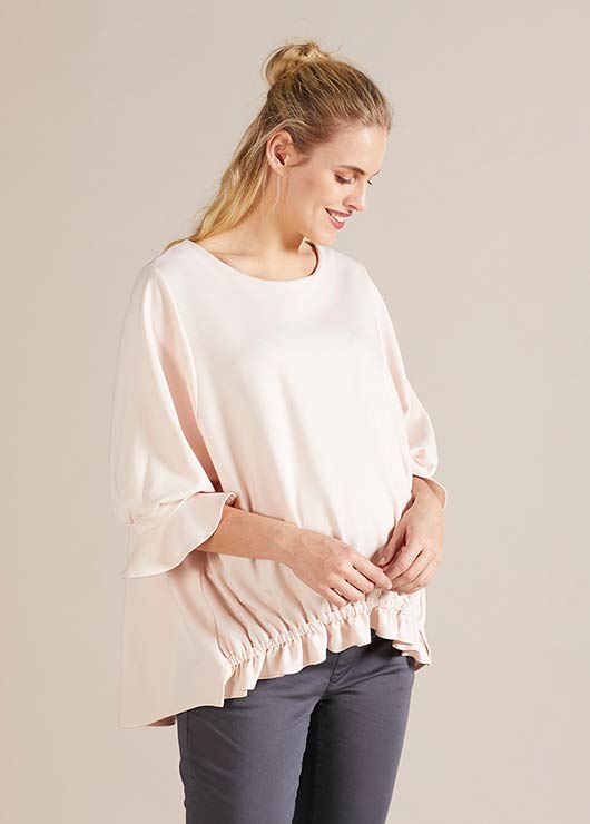 - Geniş Form Hamile Bluzu Daphne