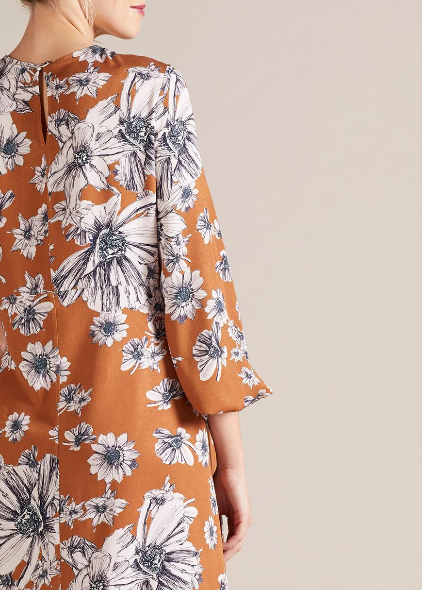 Çiçek Desenli Hamile Elbisesi Carolina