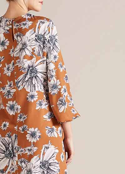 Çiçek Desenli Hamile Elbisesi Carolina - Thumbnail