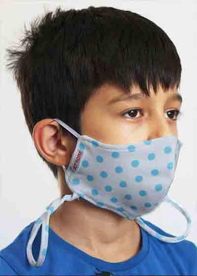Çift Katlı Boyundan Asmalı Yıkanabilir Bez Çocuk Maskesi - Thumbnail