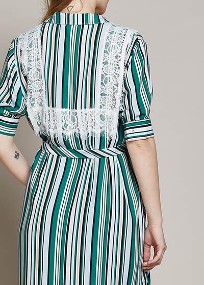 Dantel Detaylı Hamile Gömlek Elbise Volume - Thumbnail