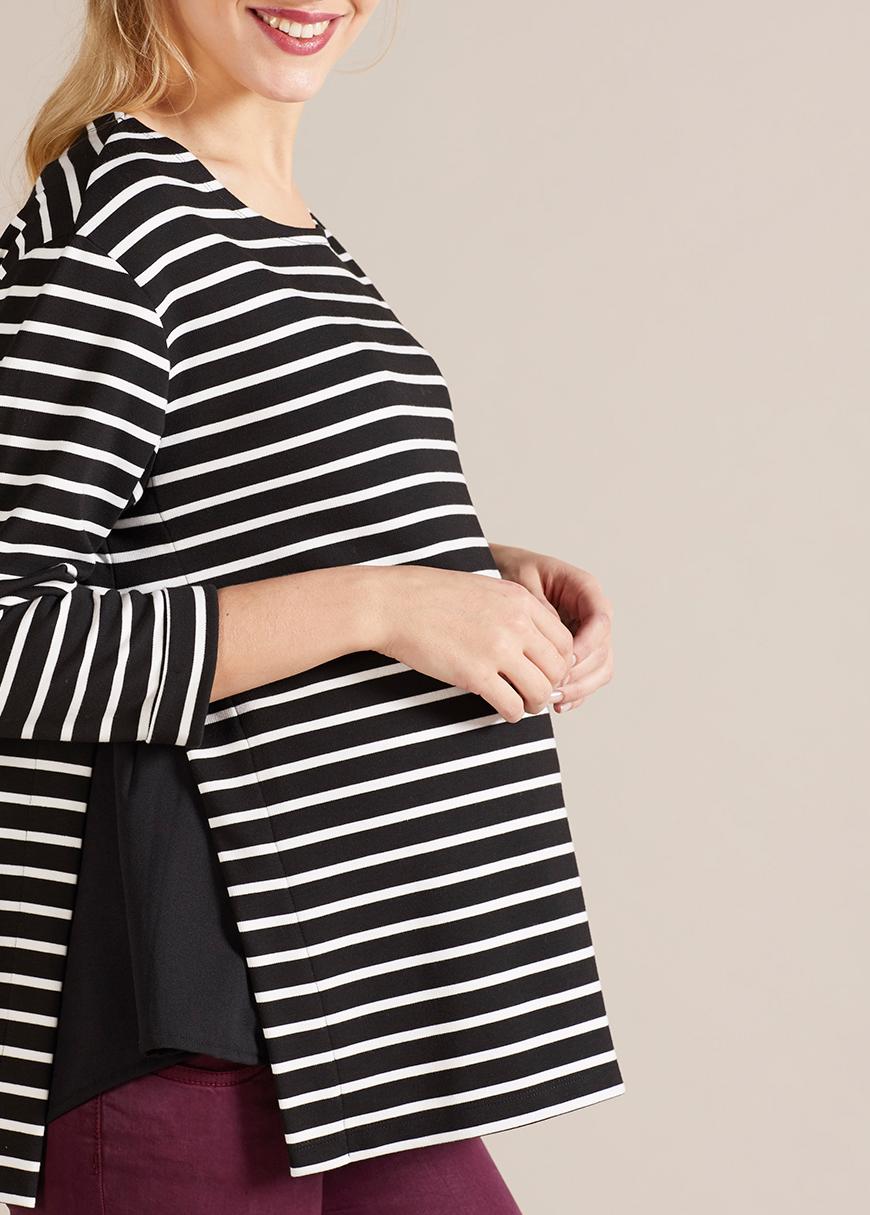 Çizgili Hamile Bluzu Vanessa