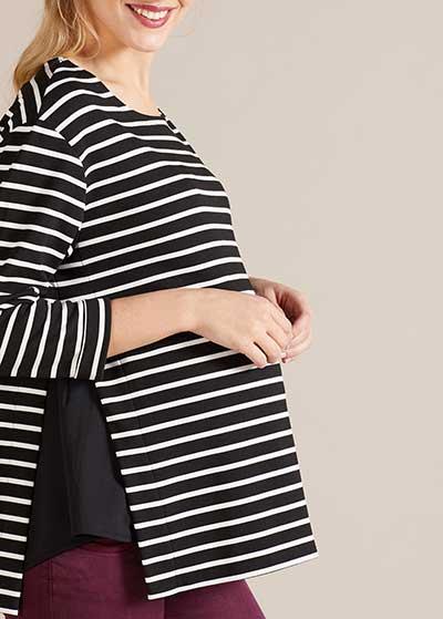 Çizgili Hamile Bluzu Vanessa - Thumbnail