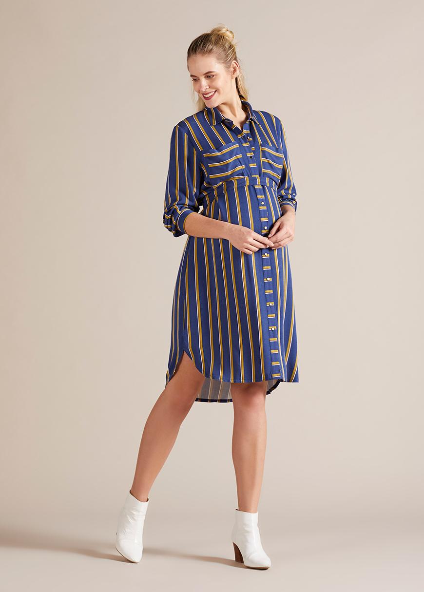 - Hamile Gömlek Elbise Line