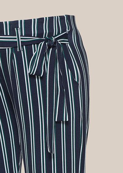 Çizgili Rahat Hamile Pantolonu Valencia - Thumbnail