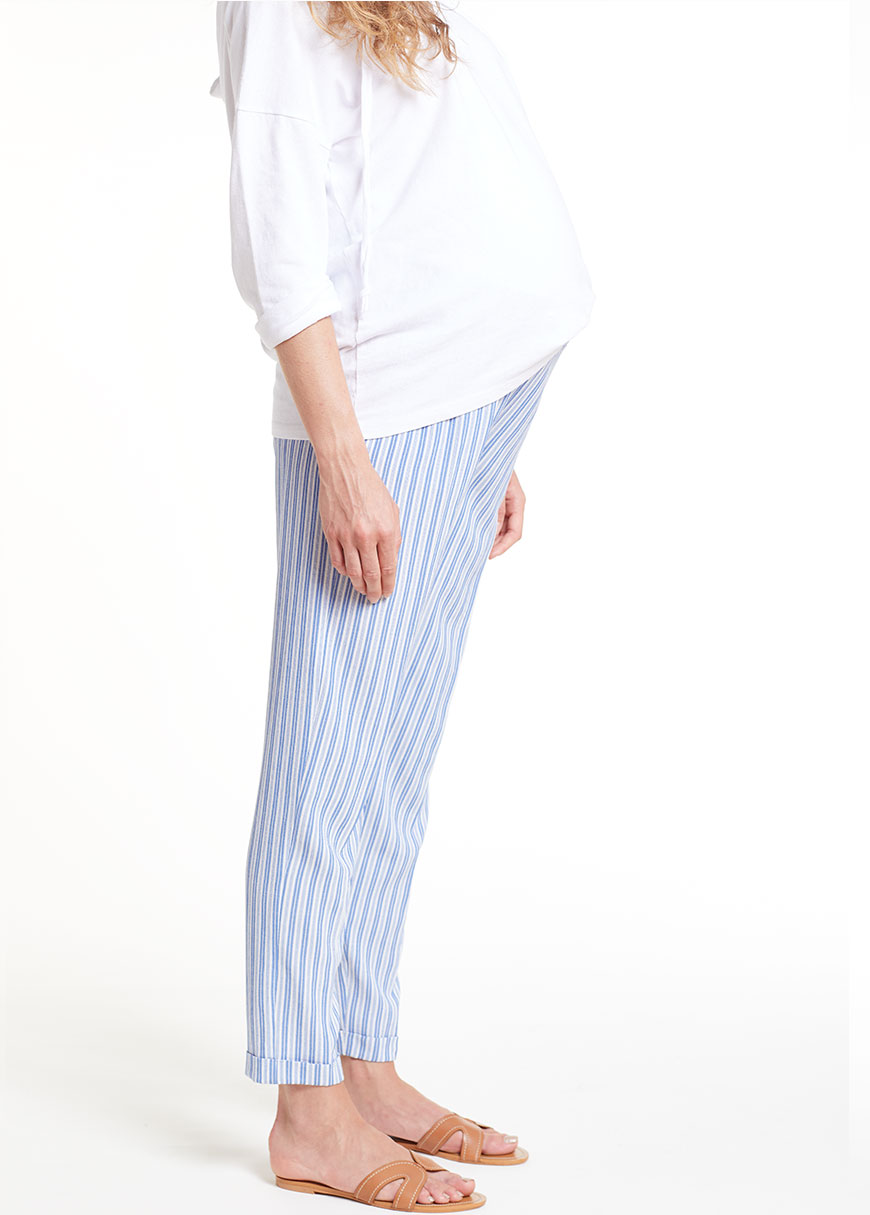 Çizgili Yumuşak Hamile Pantolonu England