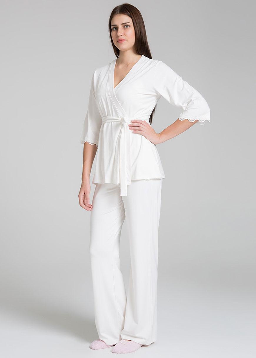 Emzirme Özellikli 3 Parça Hamile Pijama Seti Sonia