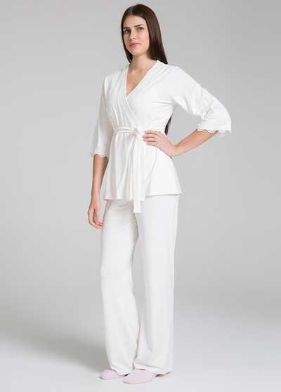 Emzirme Özellikli 3 Parça Hamile Pijama Seti Sonia - Thumbnail