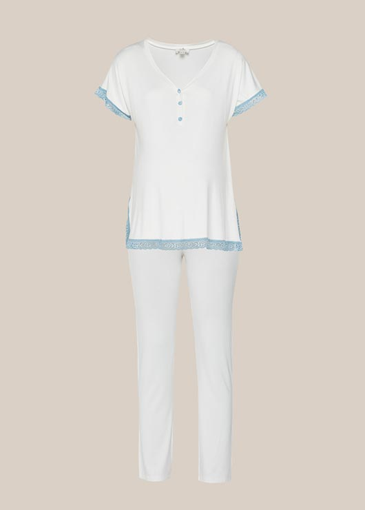 - Dantel Detaylı Hamile Pijama Takımı Celina