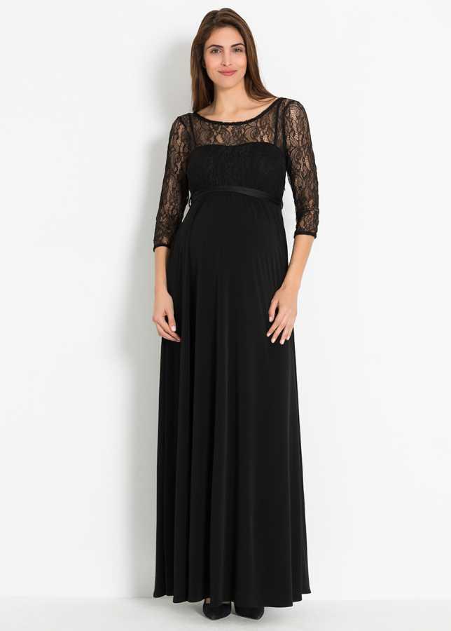 Dantelli Uzun Hamile Abiye Elbisesi Glam